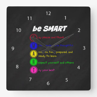 Be Smart Square Wall Clock