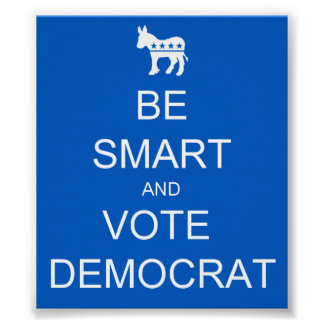 BE SMART VOTE DEMOCRAT POSTER