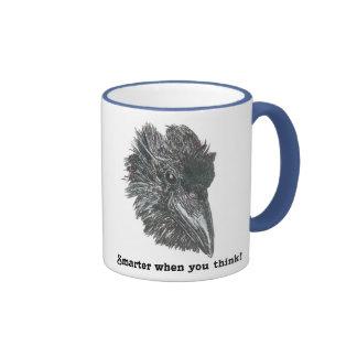 Be smarter when you think with this Raven Mug! Ringer Mug