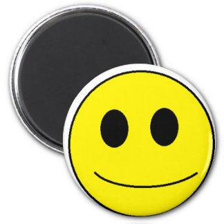 Be smiley, be happy. 2 inch round magnet