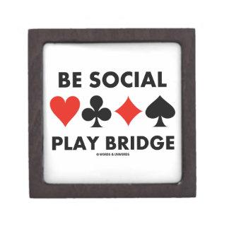 Be Social Play Bridge (Four Card Suits) Gift Box