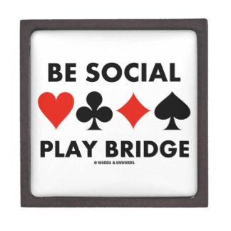 Be Social Play Bridge (Four Card Suits) Premium Jewelry Box
