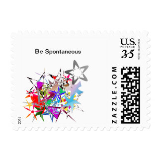 """""""Be Spontaneous"""" Stamps"""