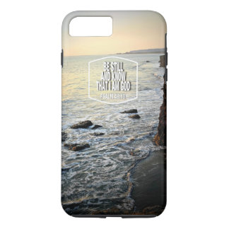 Be Still and Know Beach Cliff at Sunset iPhone 7 Plus Case