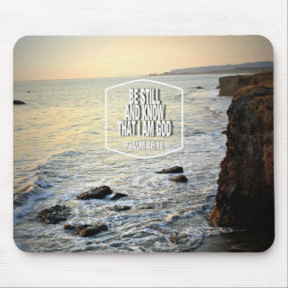 Be Still and Know, Beach Cliff at Sunset Mouse Pad