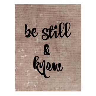 Be Still and Know Bible Verse Postcard