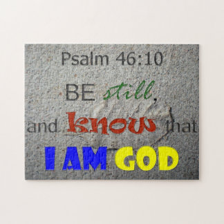 Be Still and Know Bible Verse Puzzle