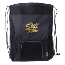 Be Still And Know Christian Easter Gift Drawstring Backpack