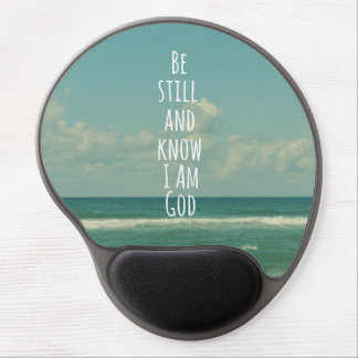 Be still and Know I am God Bible Verse Gel Mouse Mat