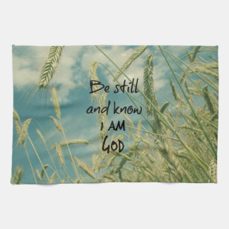 Be Still and Know I am God Bible Verse Hand Towel