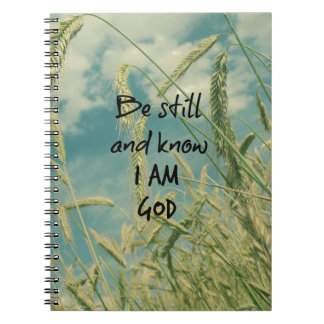 Be Still and Know I am God Bible Verse Note Book
