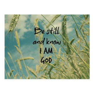 Be Still and Know I am God Bible Verse Postcard