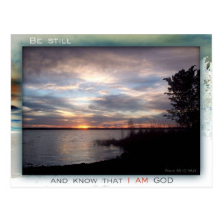 Be Still and Know postcard