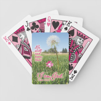 Be Still and Know Psalm 46:10 Bible Verse Quote Bicycle Playing Cards