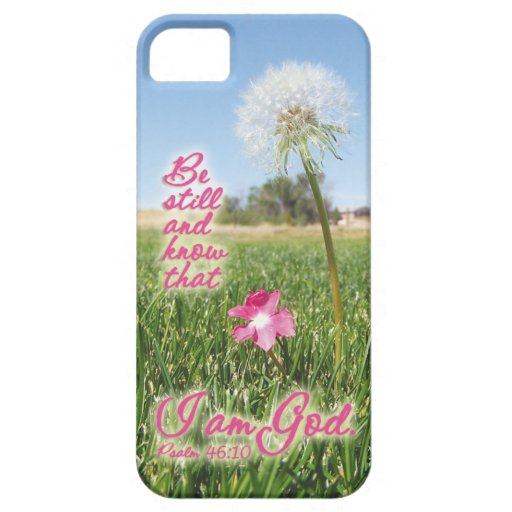 Be Still and Know Psalm 46:10 Bible Verse Quote iPhone 5 Cover