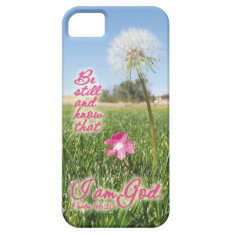 Be Still And Know Psalm 46:10 Bible Verse Quote Iphone Se/5/5s Case at Zazzle