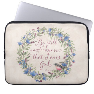 Be Still and Know - Psalm 46:10 Laptop Computer Sleeves