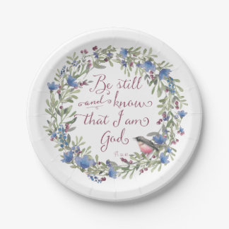 Be Still and Know - Psalm 46:10 Paper Plate