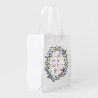 Be Still and Know - Psalm 46:10 Reusable Grocery Bag