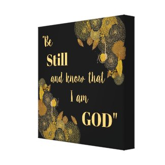 Be Still and Know Scripture Verse Canvas Art