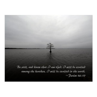 Be still, and know that I am God: I will be exalte Postcard