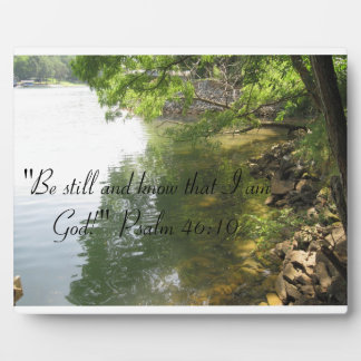"""""""Be still and know that I am God""""plaque Plaque"""