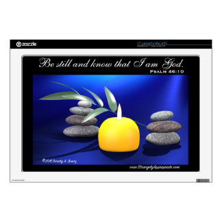 """Be still and know that I am God (Psalm 46:10) 17"""" Laptop Skin"""