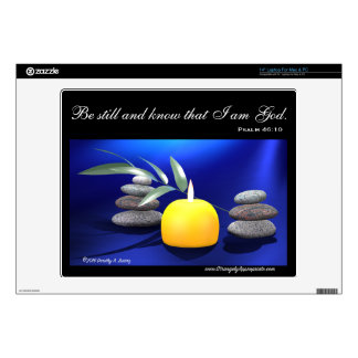Be still and know that I am God. (Psalm 46:10) Skin For Laptop
