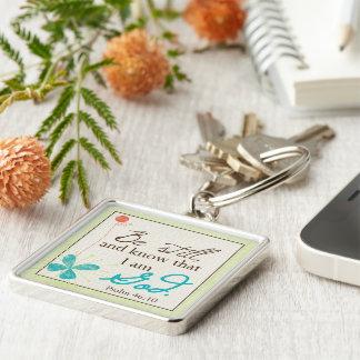 Be Still Custom Keychain