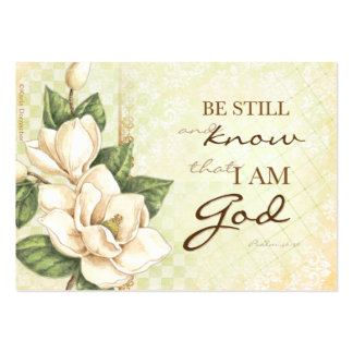 Be Still... Magnolia Prayer Cards Large Business Cards (Pack Of 100)