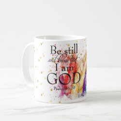 Be Still | Psalms Christian Feathers Mug