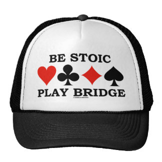 Be Stoic Play Bridge (Four Card Suits) Mesh Hats