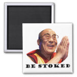 Be Stoked 2 Inch Square Magnet