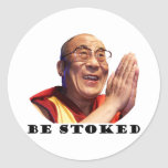 Be Stoked Classic Round Sticker