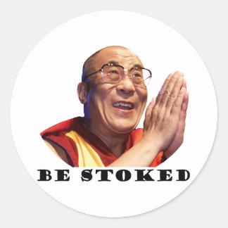 Be Stoked Classic Round Sticker