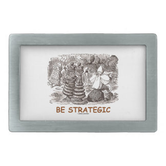Be Strategic (Through The Looking Glass Chess) Rectangular Belt Buckle