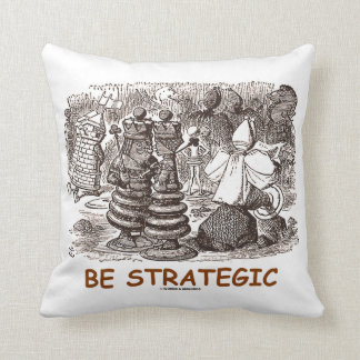 Be Strategic (Through The Looking Glass Chess) Throw Pillow