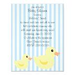 "Be-striped Duck in Blue 4.25"" X 5.5"" Invitation Card"