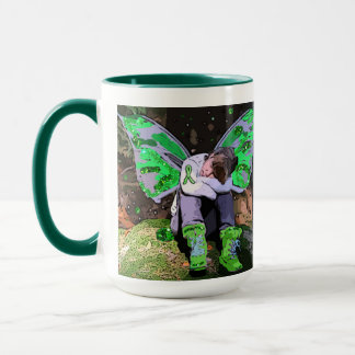 "Be Stron"" Lyme Disease Awareness Fairy Coffee Mug"