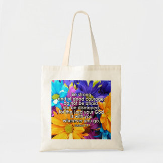 Be Strong Bible Scripture Tote Bags