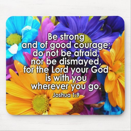 Be Strong Bible Scripture Mouse Pad