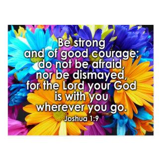Be Strong Bible Scripture Postcard