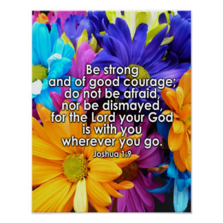 Be Strong Bible Scripture Posters