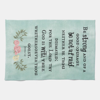 Be Strong Bible Verse Hand Towel