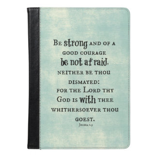 Be Strong Bible Verse iPad Air Case