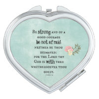 Be Strong Bible Verse Makeup Mirror