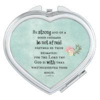 Be Strong Bible Verse Makeup Mirror