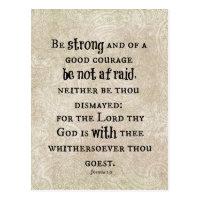 Be Strong Bible Verse Postcard