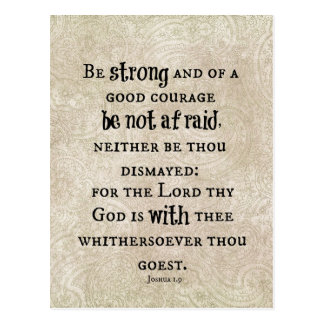 Be Strong Bible Verse Postcard