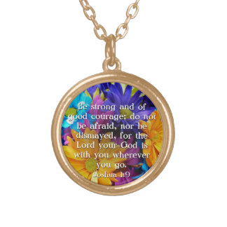 Be Strong Bible Verse Quote Pendant